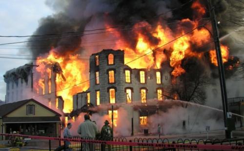 Casino house fire